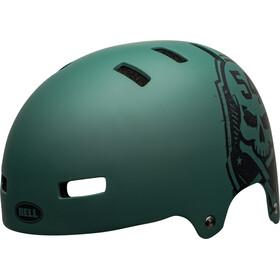 Bell Local Casque, matte green/black scull